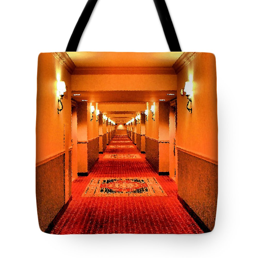Hallway Tote Bag featuring the photograph Last Door On The Left by Kristin Elmquist