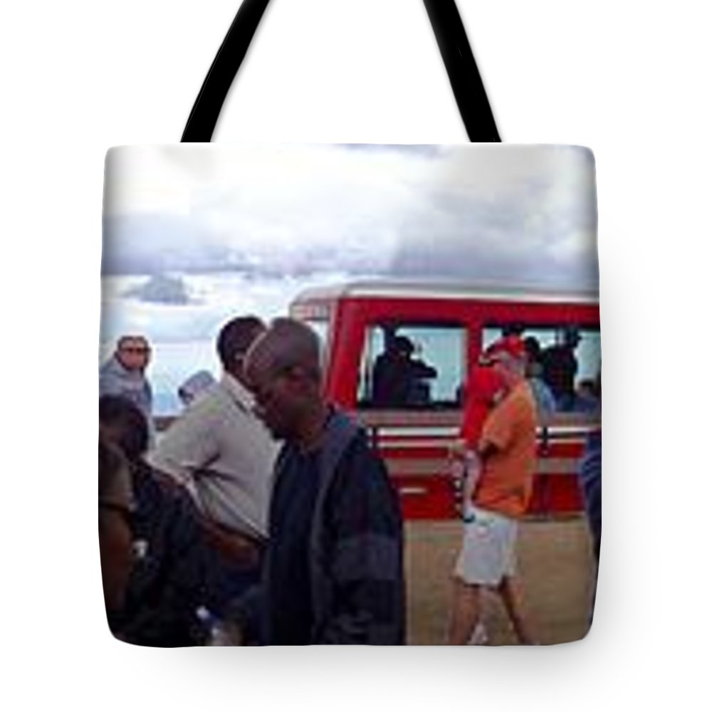 Peak Tote Bag featuring the digital art Last Stop The Top by Barkley Simpson