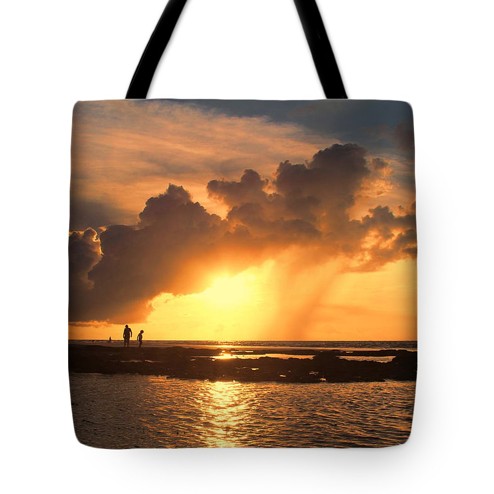 Causarina Coastal Reserve-top-end Tote Bag featuring the photograph Late Afternoon Beach Walk by Douglas Barnard
