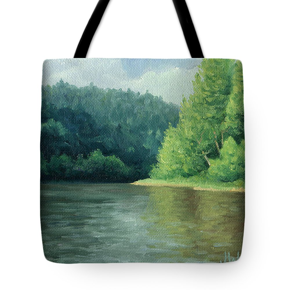 Trees Tote Bag featuring the painting Later That Day by Joe Winkler