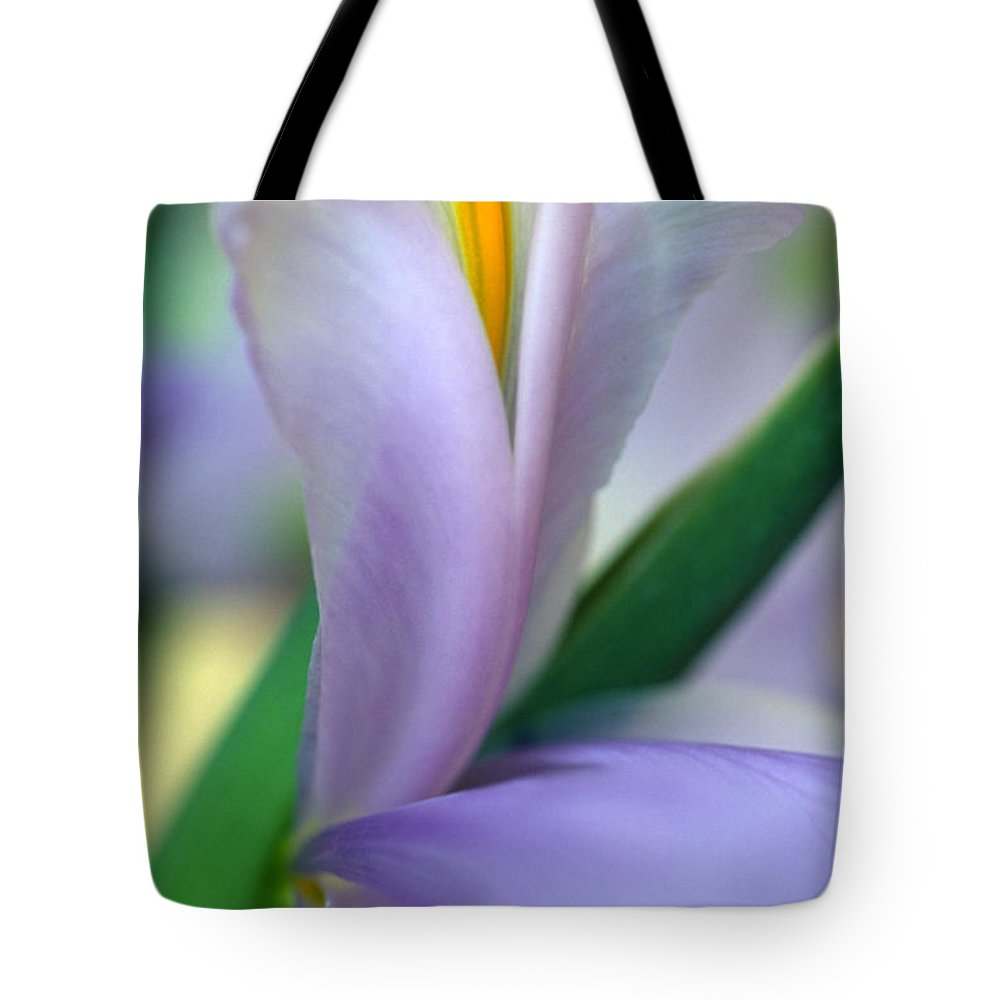 Flowers Tote Bag featuring the photograph Lavender Iris by Kathy Yates