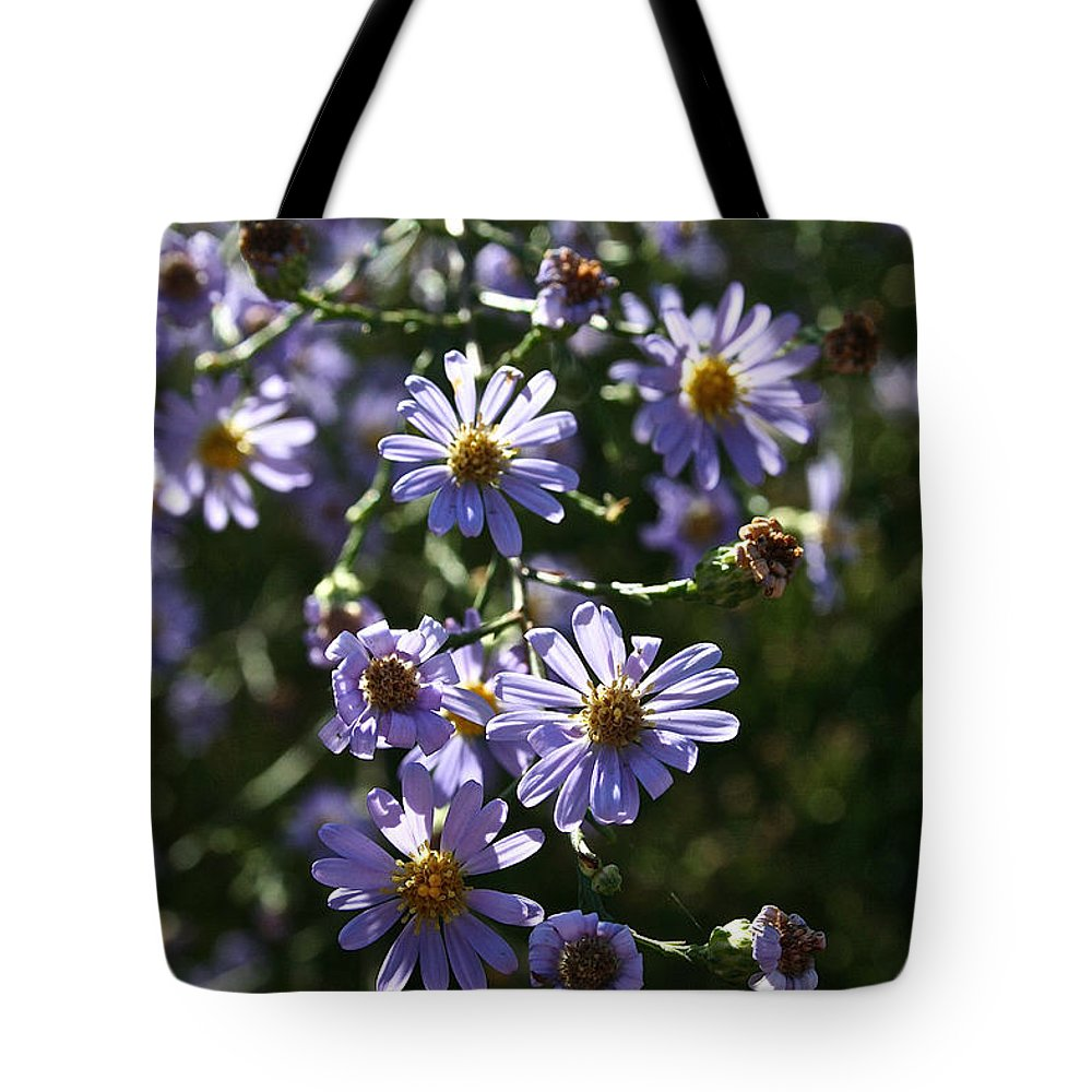 Flower Tote Bag featuring the photograph Lavender Ladies by Susan Herber