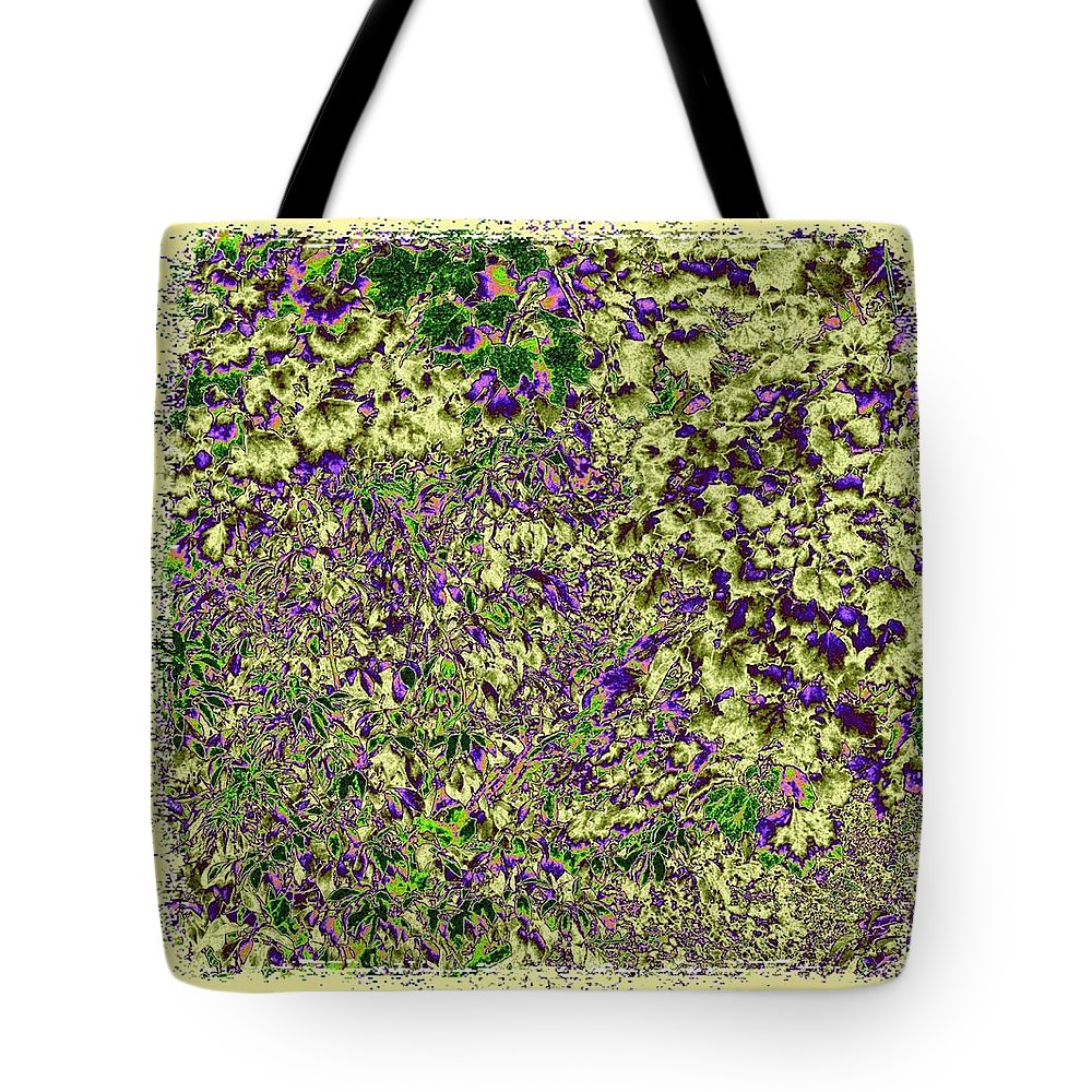 Lavish Leaves Tote Bag featuring the digital art Lavish Leaves 6 by Will Borden