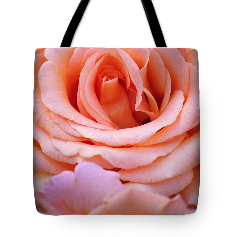 Flowers Tote Bag featuring the photograph Layers Of Pink Petals by Diego Re
