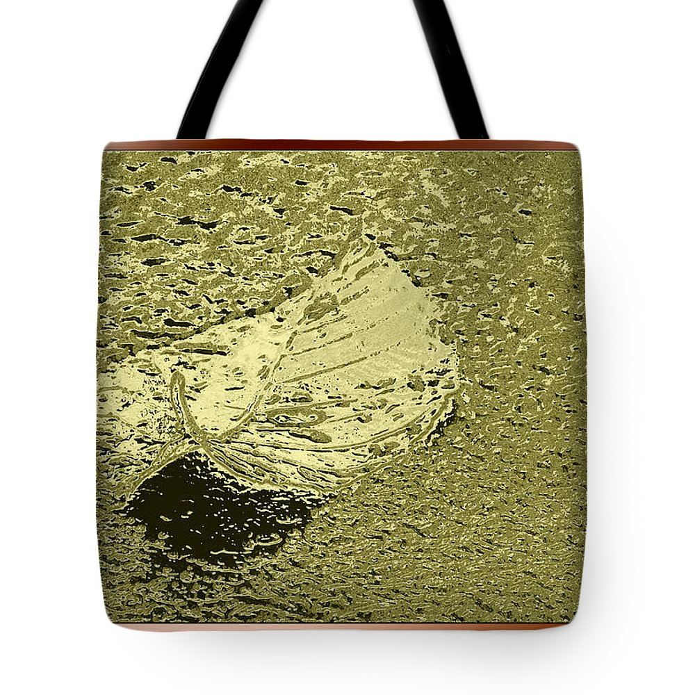 Leaf Tote Bag featuring the photograph Leaf Mytallique by Marie Jamieson