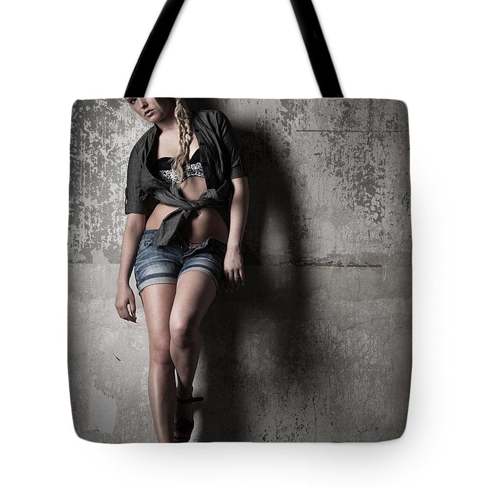 Ralf Tote Bag featuring the photograph Lean Against The Wall by Ralf Kaiser
