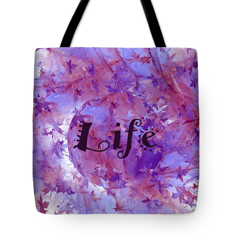 Fractal Tote Bag featuring the digital art Leaves Of Life by Betsy Knapp