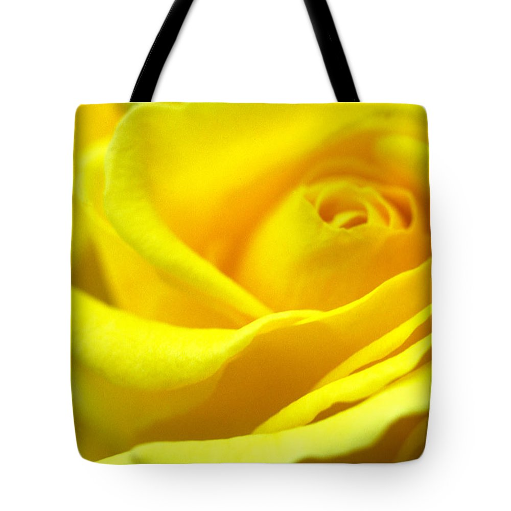 Floral Tote Bag featuring the photograph Lemon Yellow Rose by Kathy Yates