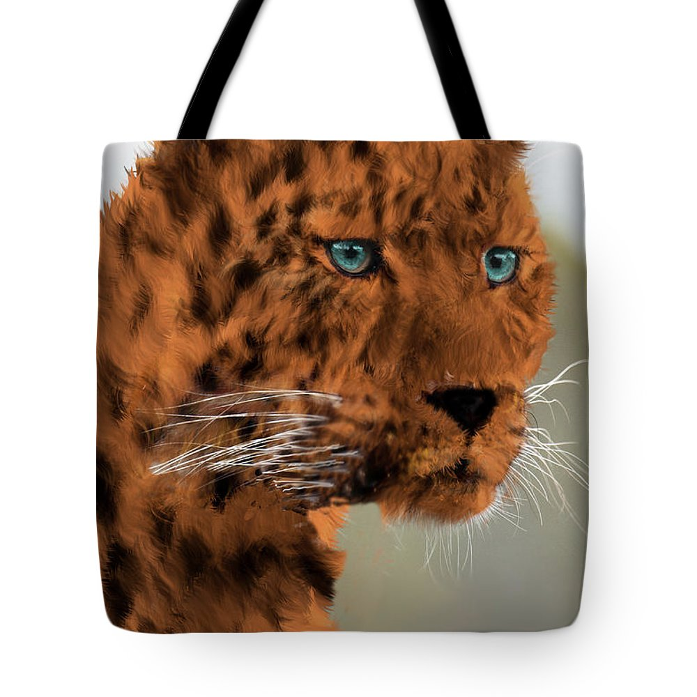 Leopard Tote Bag featuring the photograph Leopard - Featured In The Group Wildlife by Ericamaxine Price