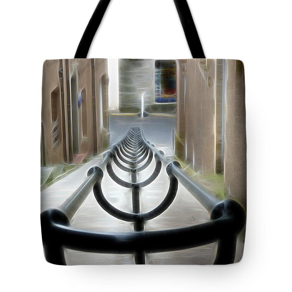 Lerwick Lanes Tote Bag featuring the photograph Lerwick Lanes by Lynn Bolt