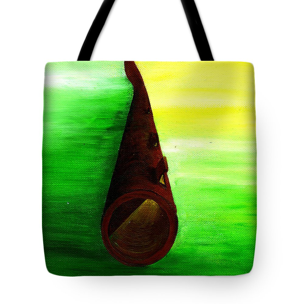 Let In The Light Tote Bag featuring the painting Let In The Light by Catt Kyriacou