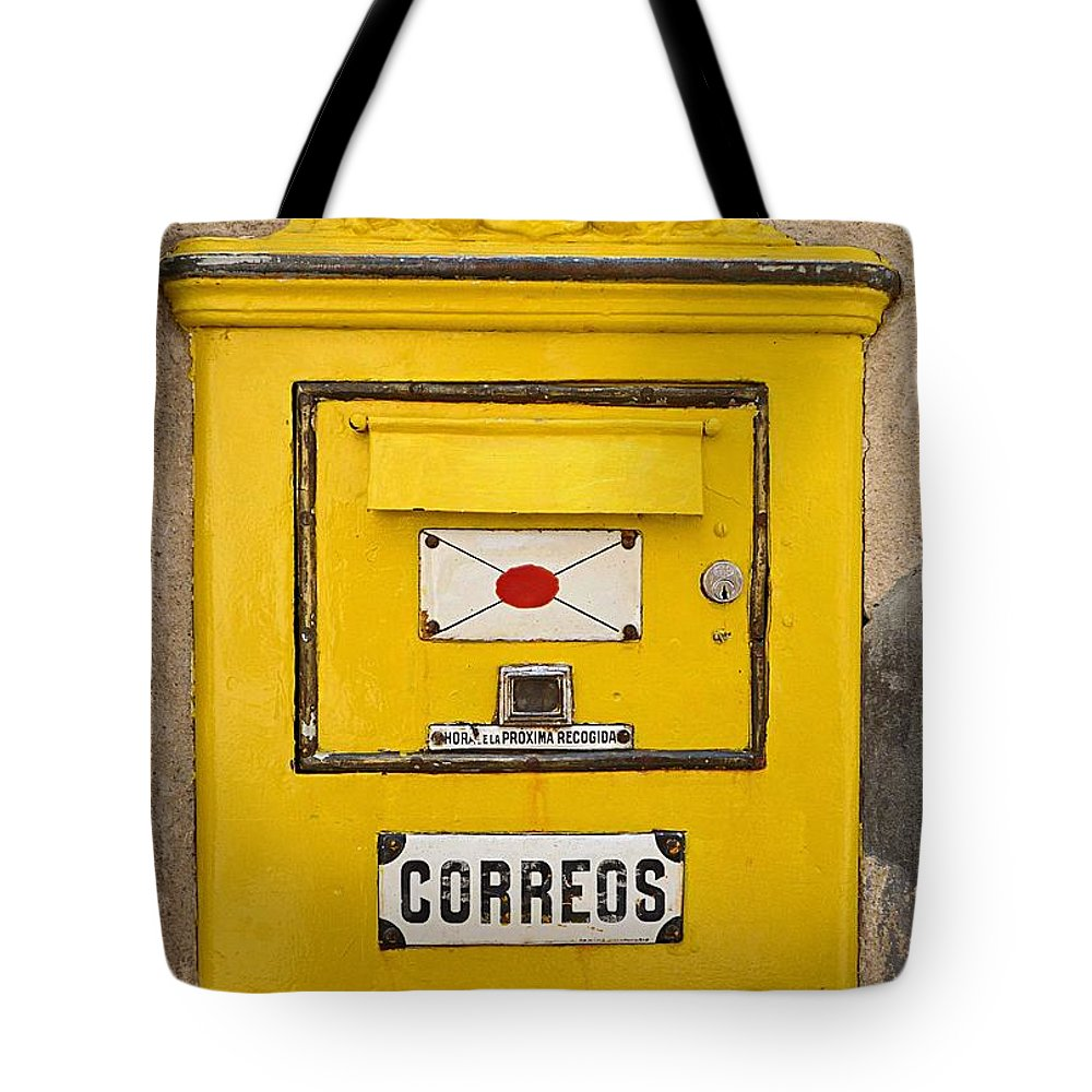 Letterbox Tote Bag featuring the photograph Letterbox by Charles Stuart