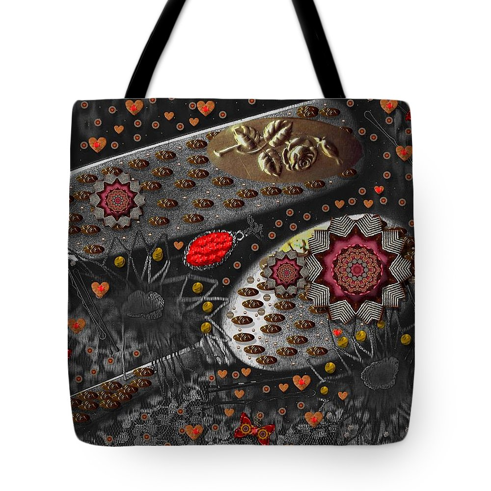 Combs Tote Bag featuring the mixed media Liberation And Cookies by Pepita Selles
