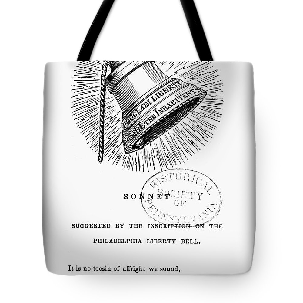 1830s Tote Bag featuring the photograph Liberty Bell, 1839 by Granger