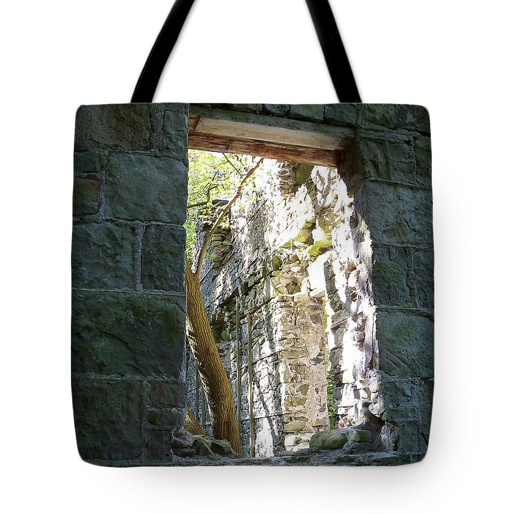 Building Tote Bag featuring the photograph Life Through The Ruins by Corinne Elizabeth Cowherd