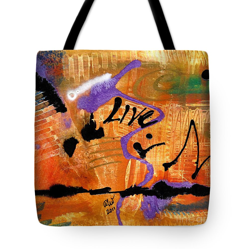 Spiritual Tote Bag featuring the painting Life Unrestrained by Angela L Walker
