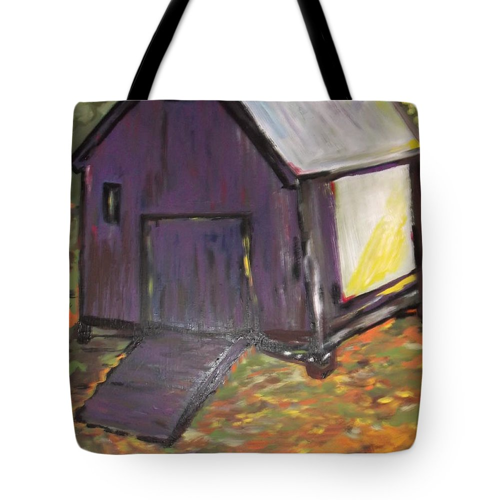 Purple Tote Bag featuring the painting Light Cast Shadows by Clare Ventura