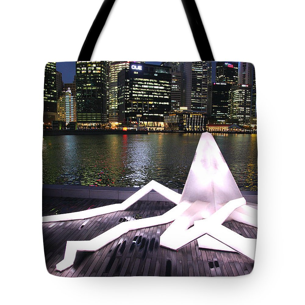 Singapore Tote Bag featuring the photograph Light by Milena Boeva