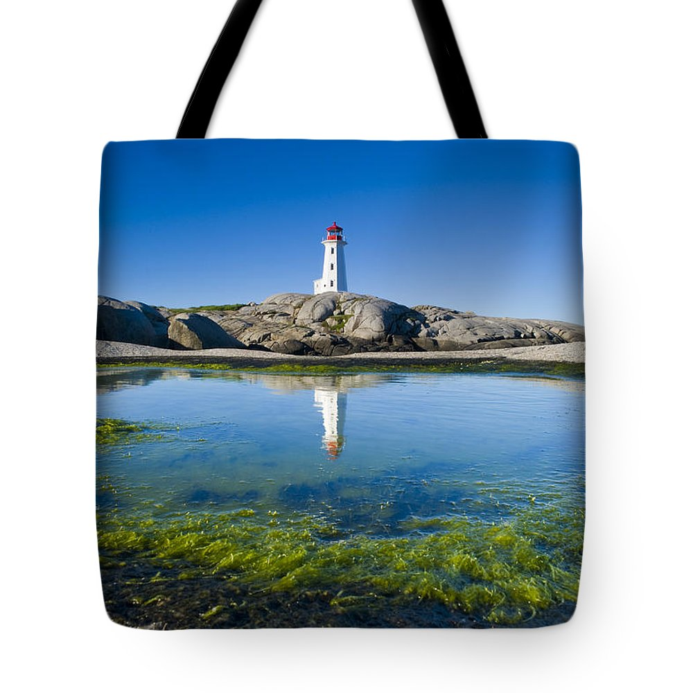 Atlantic Ocean Tote Bag featuring the photograph Lighthouse And Tide Pool by David Nunuk
