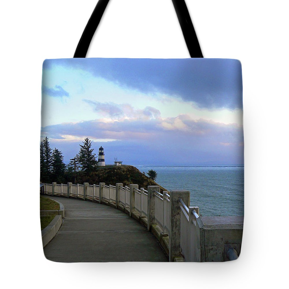 Lighthouse Tote Bag featuring the photograph Lighthouse In View by Pamela Patch