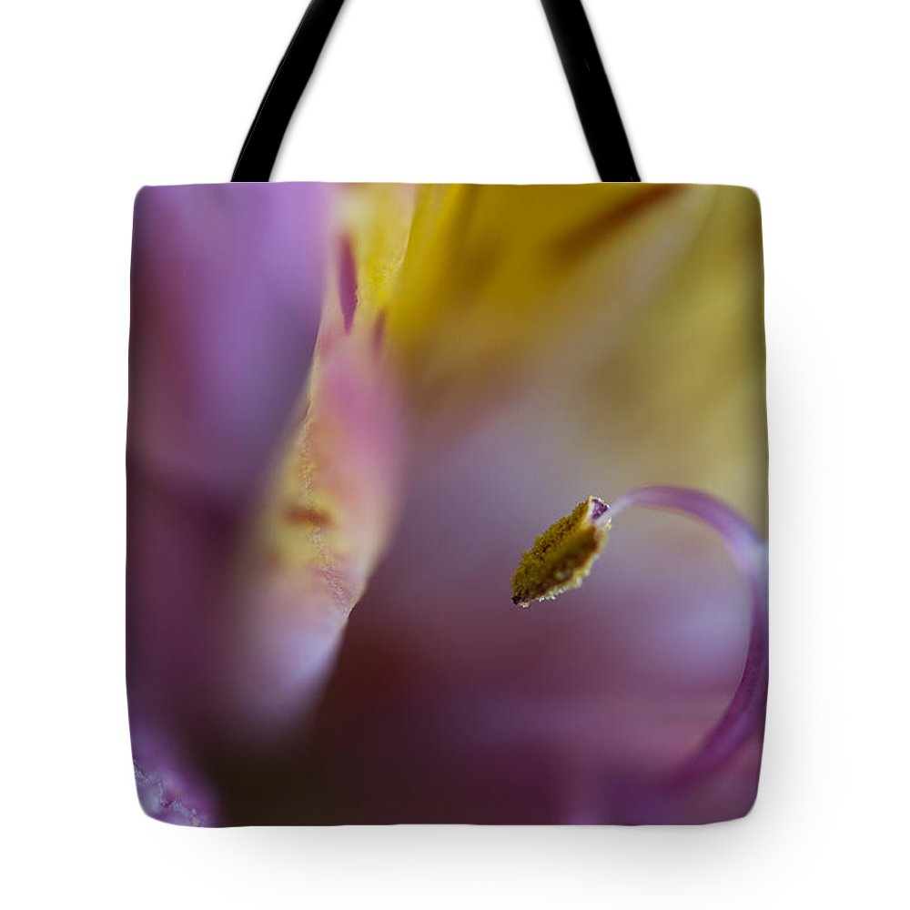 Flower Tote Bag featuring the photograph Lilac Abstract by Roger Mullenhour