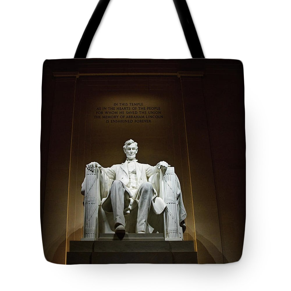 Service Tote Bag featuring the photograph Lincoln by Jim Chamberlain