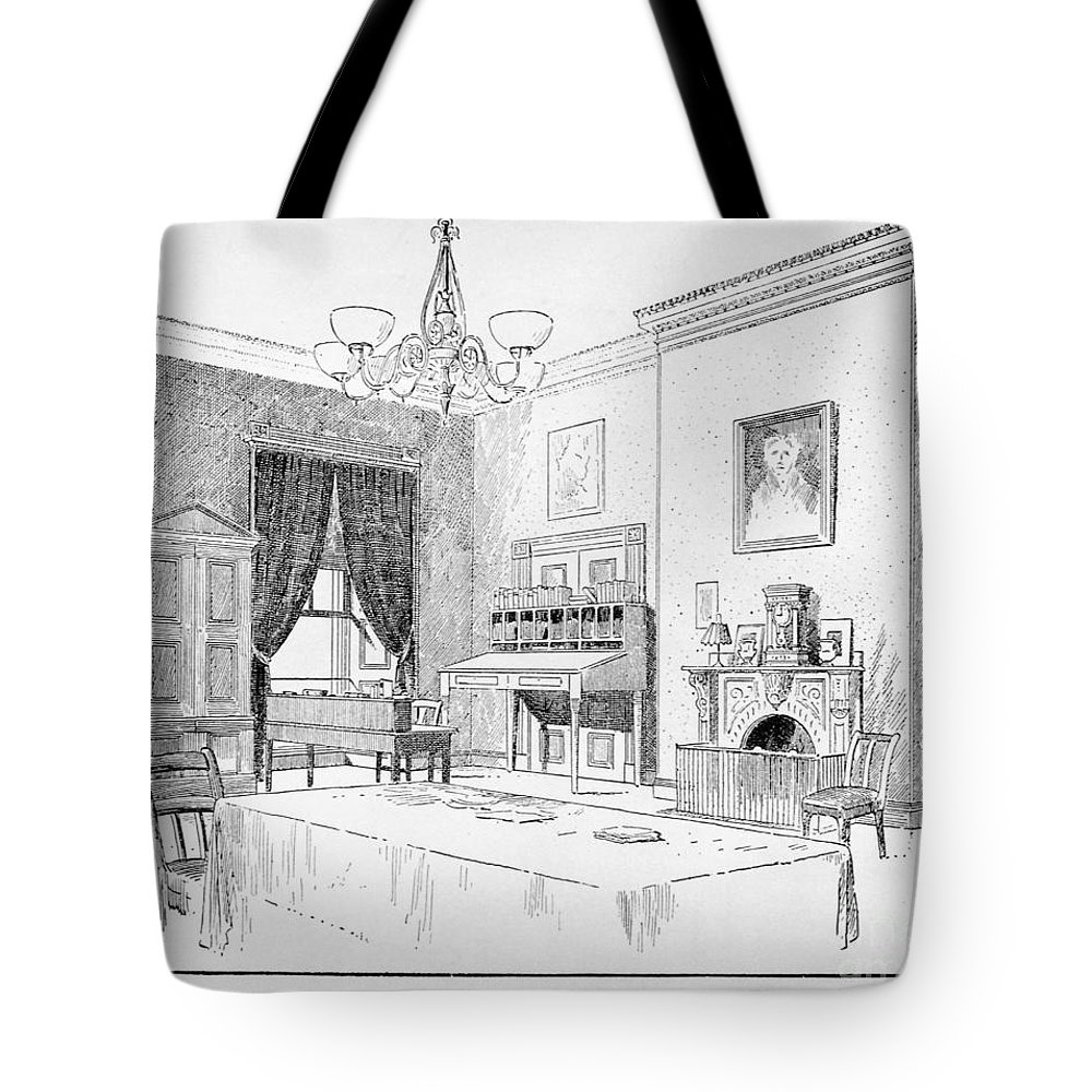 19th Century Tote Bag featuring the photograph Lincoln: White House Office by Granger