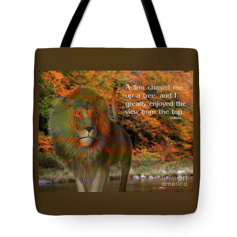 Lion Attitude Tote Bag