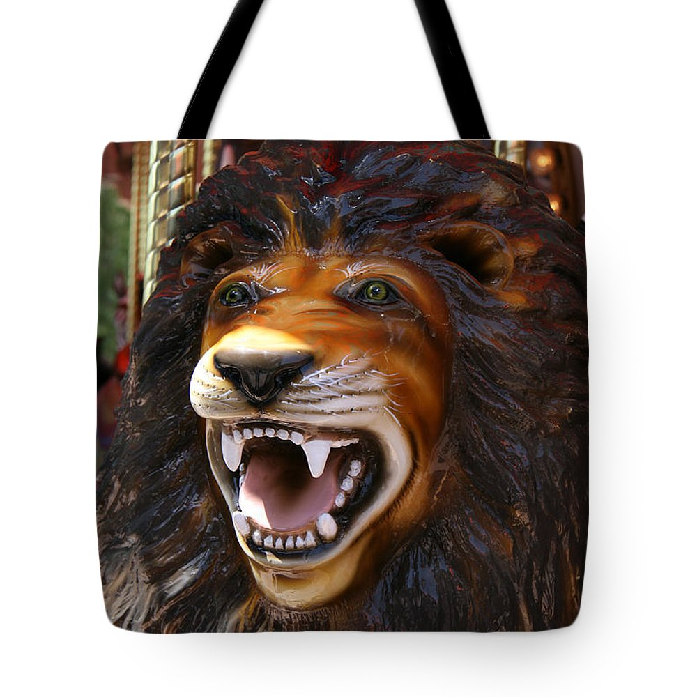 Lion Merry Go Round Animal Tote Bag For Sale By Elizabeth Rose