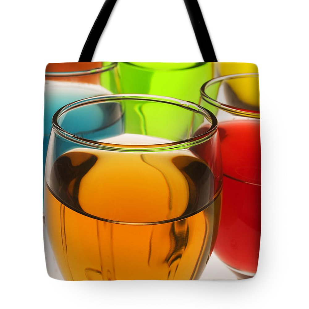 Liquor Tote Bag featuring the photograph Liquor Glasses by Garry Gay