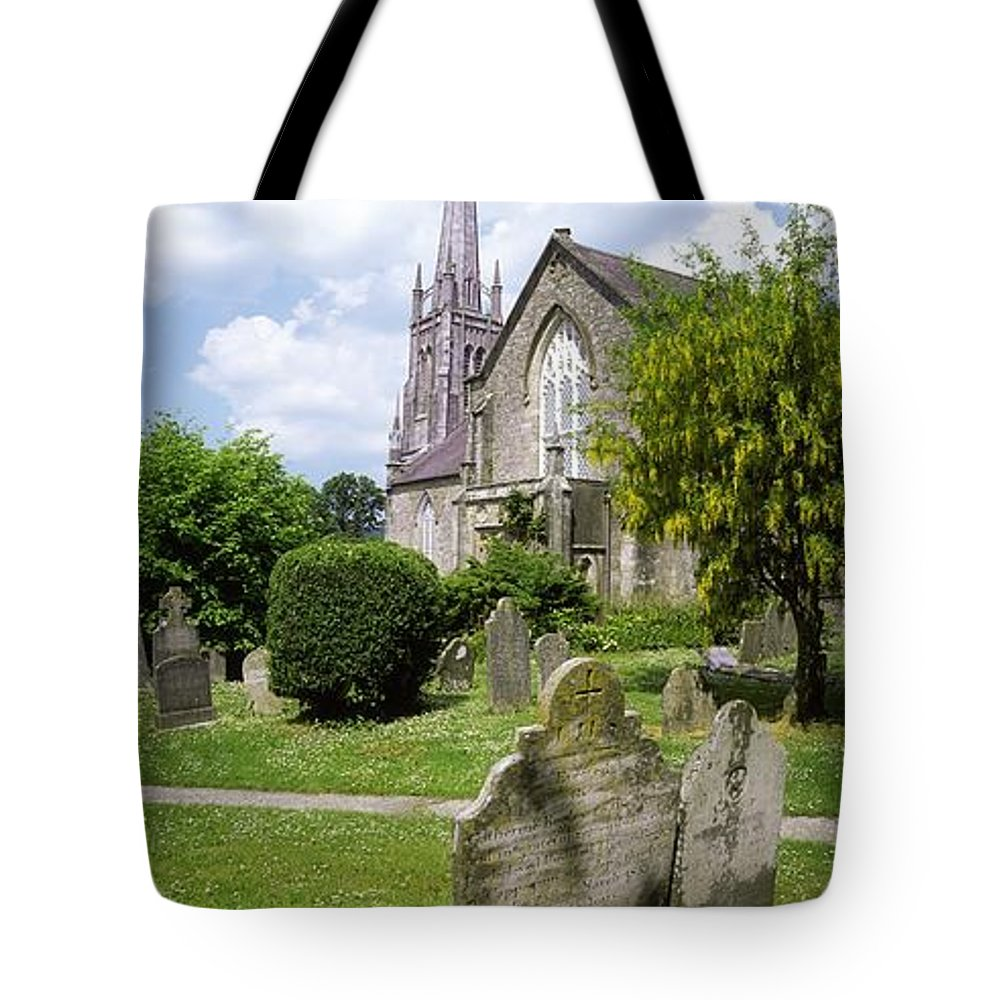 Cemetery Tote Bag featuring the photograph Lismore, Co Waterford, Ireland by The Irish Image Collection