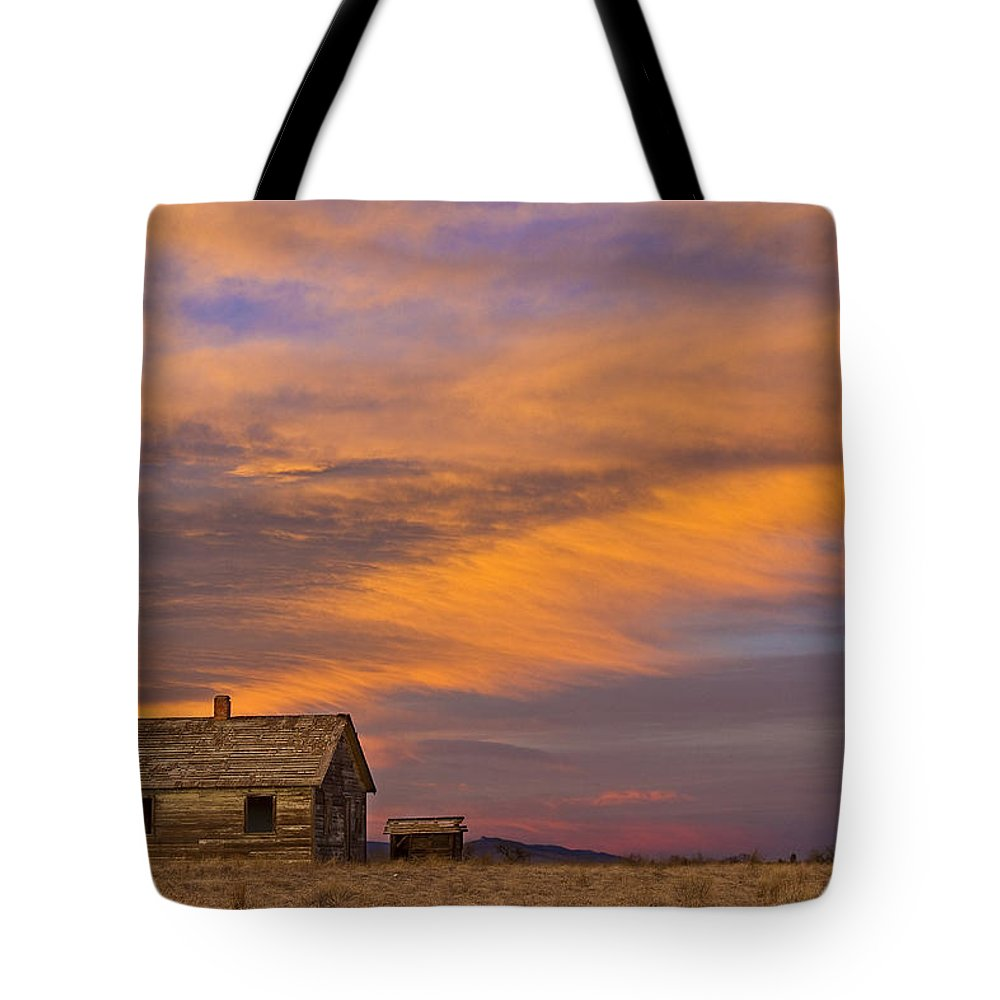 North Tote Bag featuring the photograph Little House On The Colorado Prairie 2 by James BO Insogna
