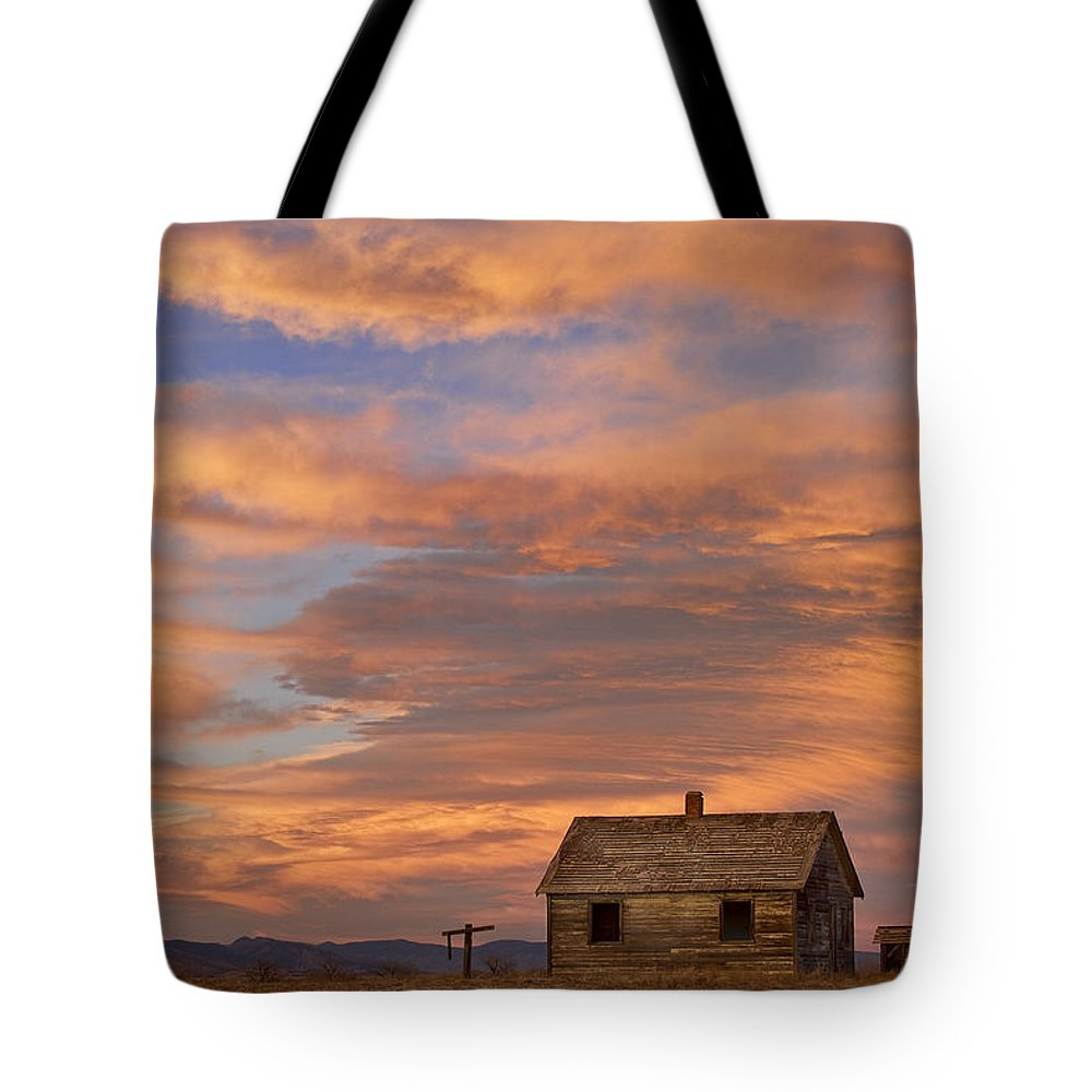 North Tote Bag featuring the photograph Little House On The Colorado Prairie by James BO Insogna