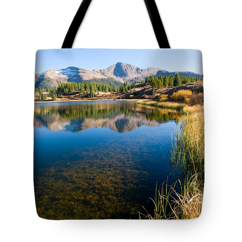 Colorado Tote Bag featuring the photograph Little Molas Lake by Steve Stuller
