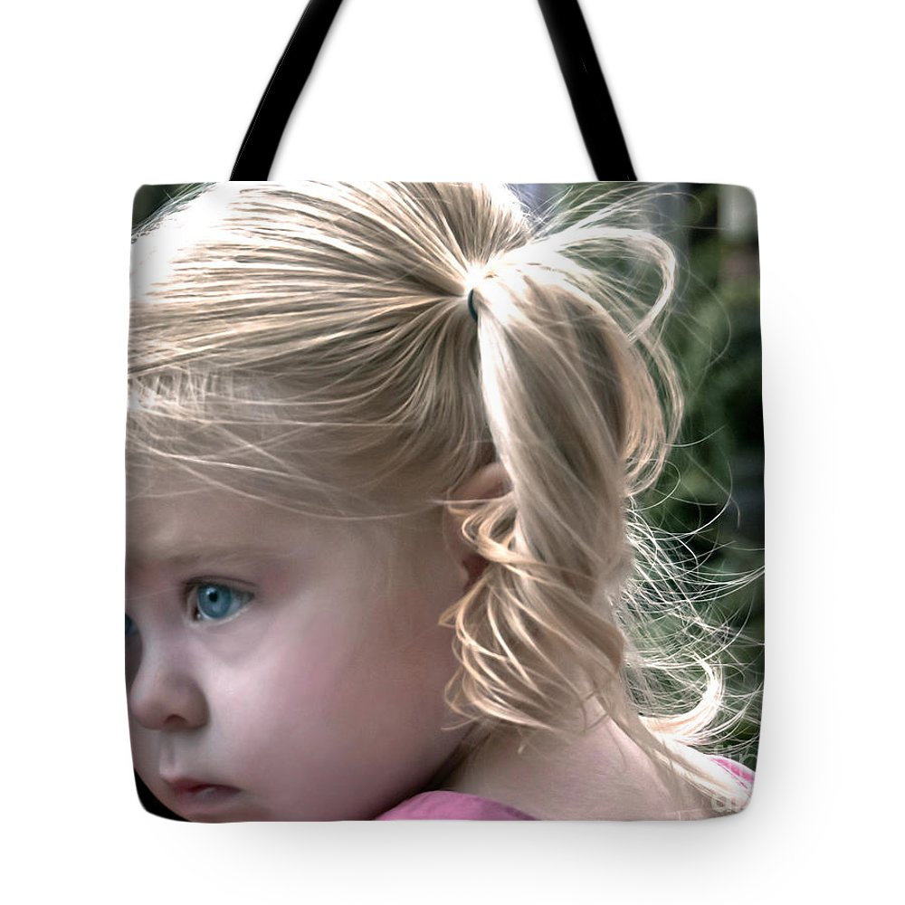 Tote Bag featuring the digital art Little Posy by Danielle Summa