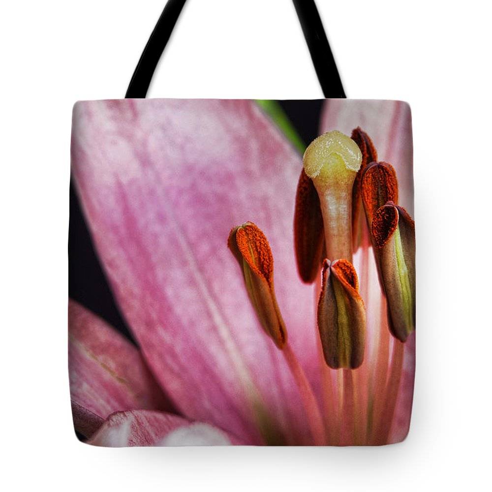 Pink Lilly Tote Bag featuring the photograph Little Things by Saija Lehtonen