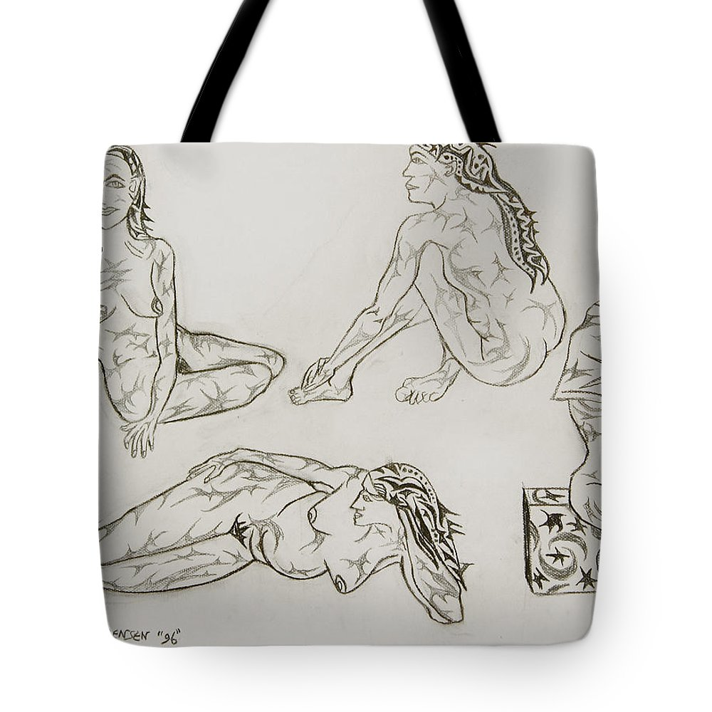 Live Nude Tote Bag featuring the painting Live Nude 24 Female by Robert SORENSEN