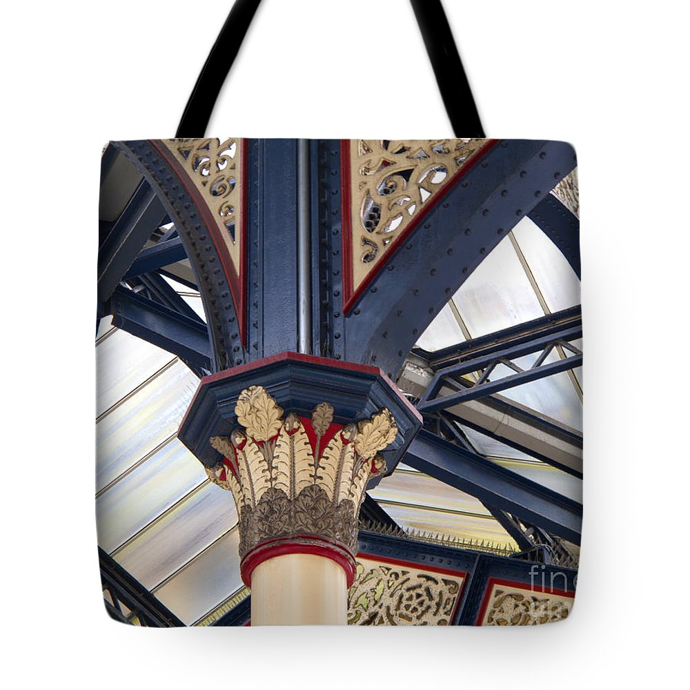 London Tote Bag featuring the photograph Liverpool Street Skylight by Ann Horn