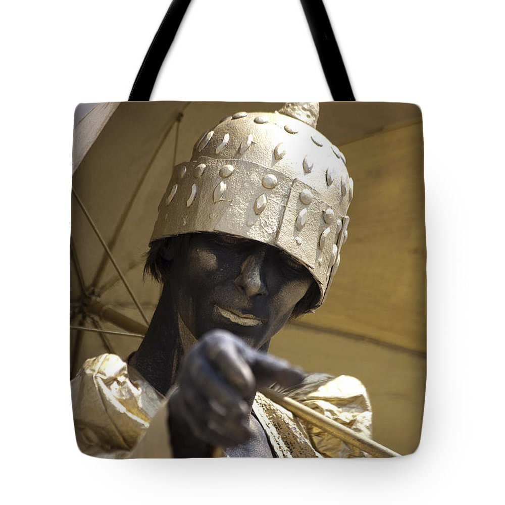 People Tote Bag featuring the photograph Living Statue by Heiko Koehrer-Wagner