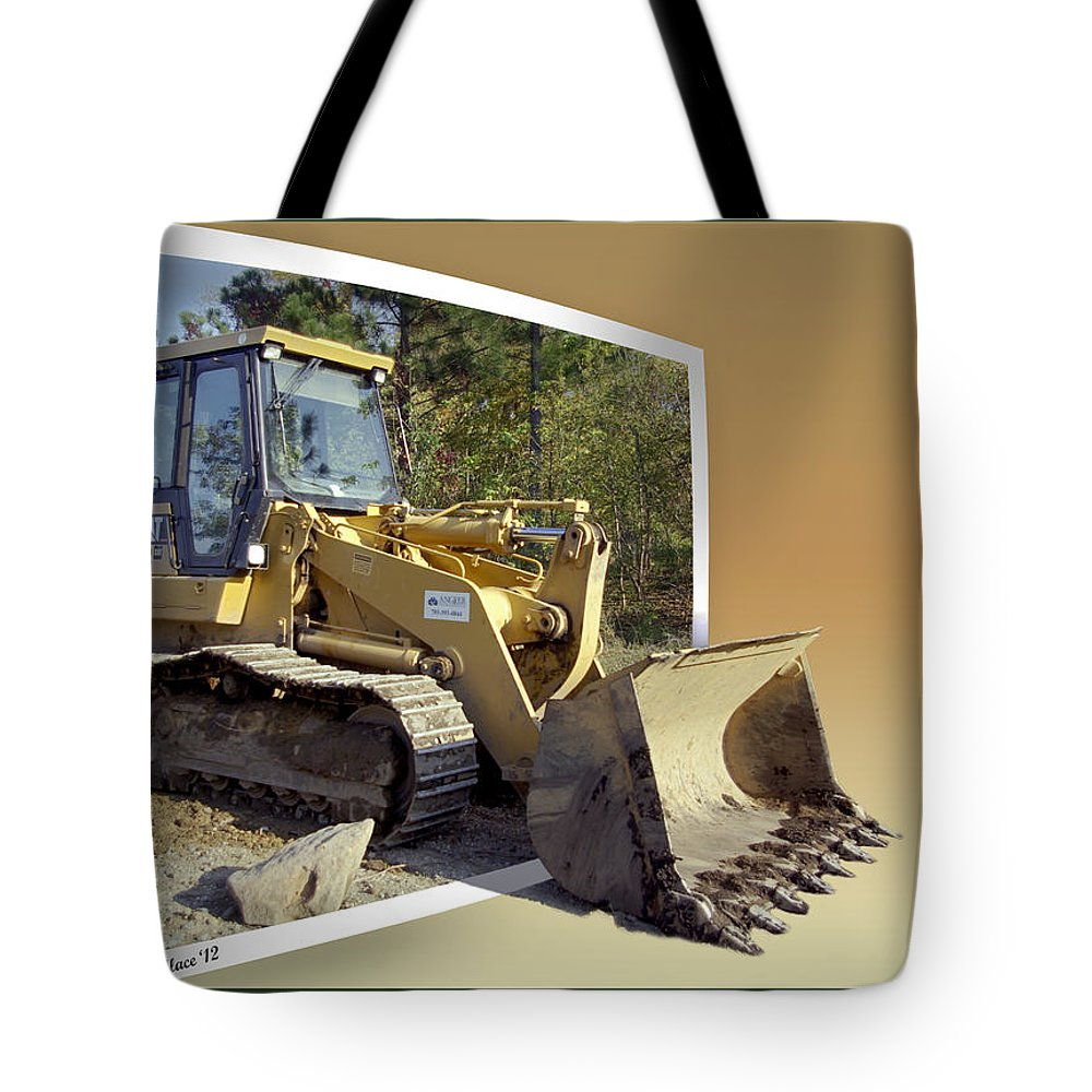 2d Tote Bag featuring the photograph Loader - Oof by Brian Wallace