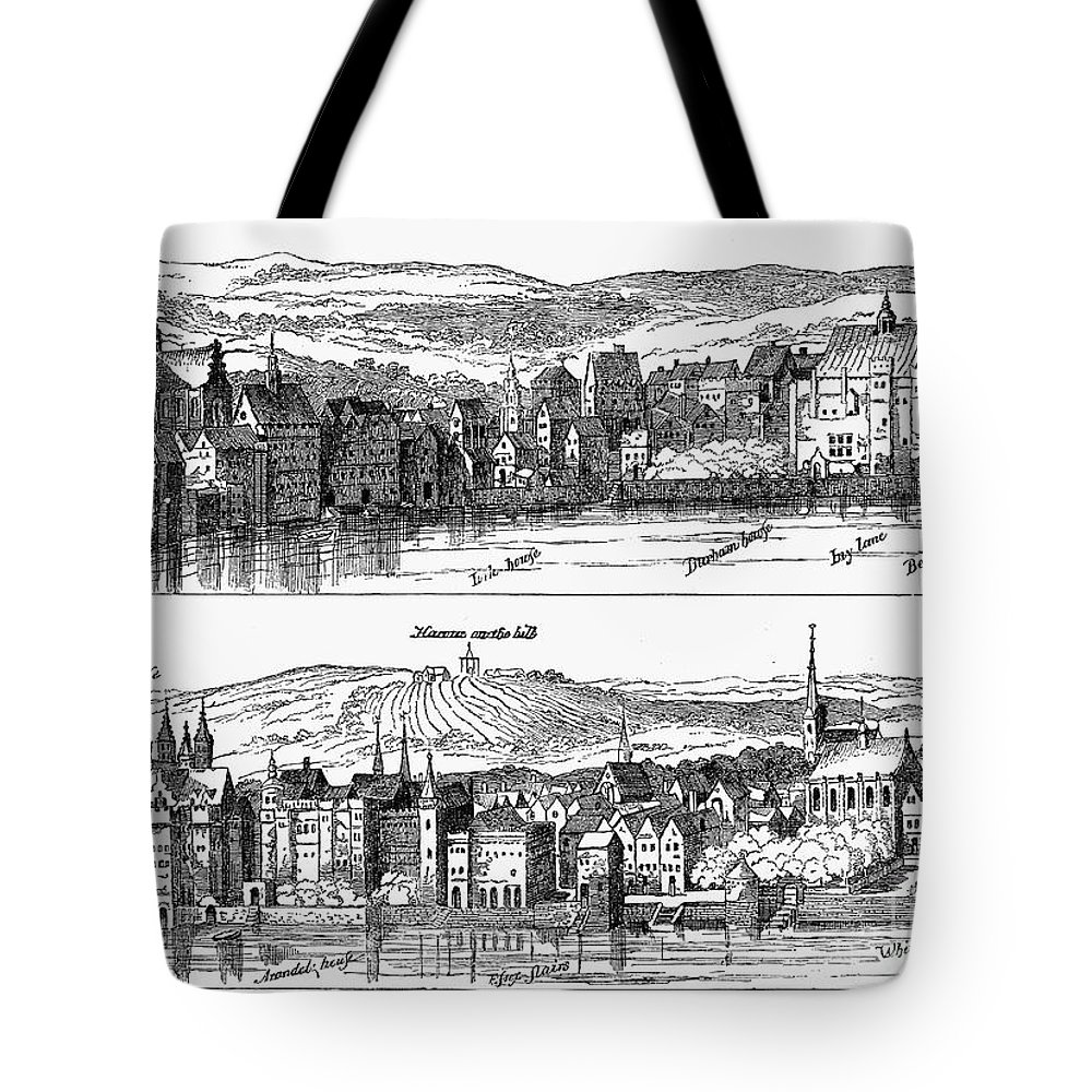 16th Century Tote Bag featuring the photograph London, 16th Century by Granger