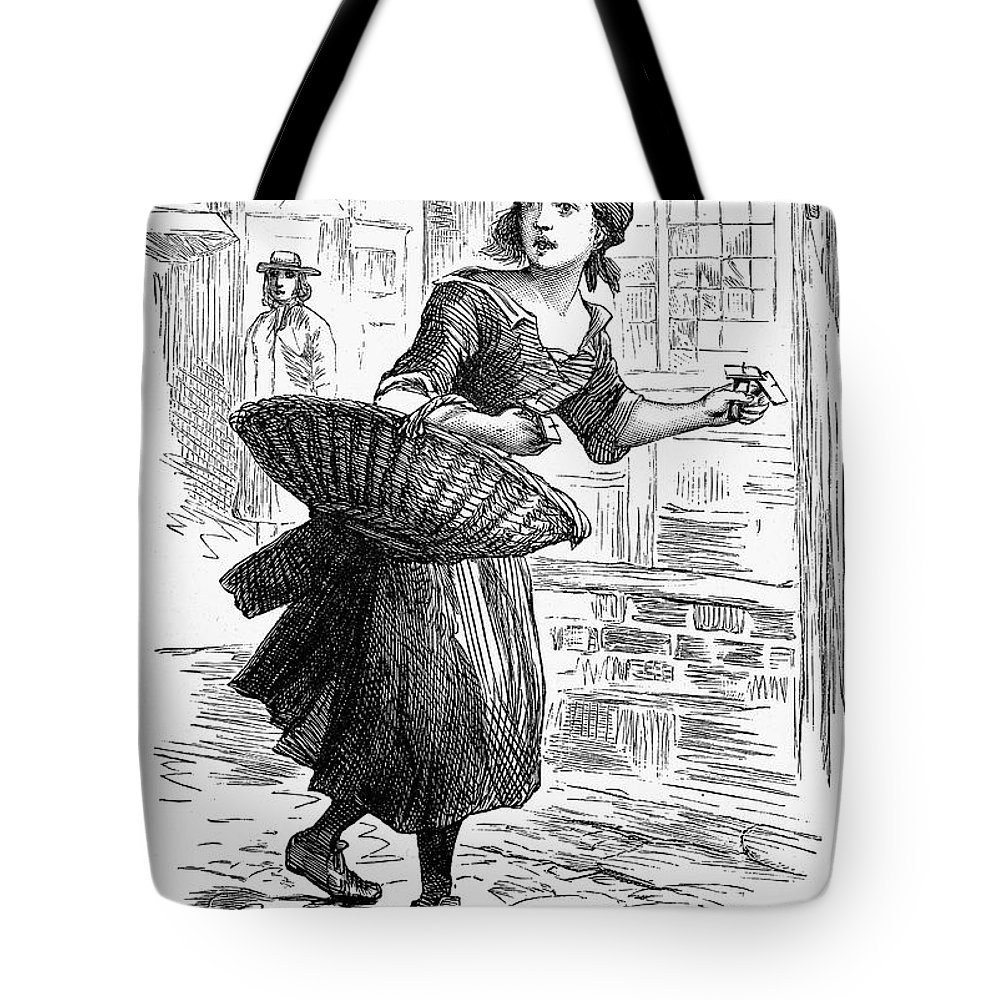 19th Century Tote Bag featuring the photograph London: Match-girl by Granger