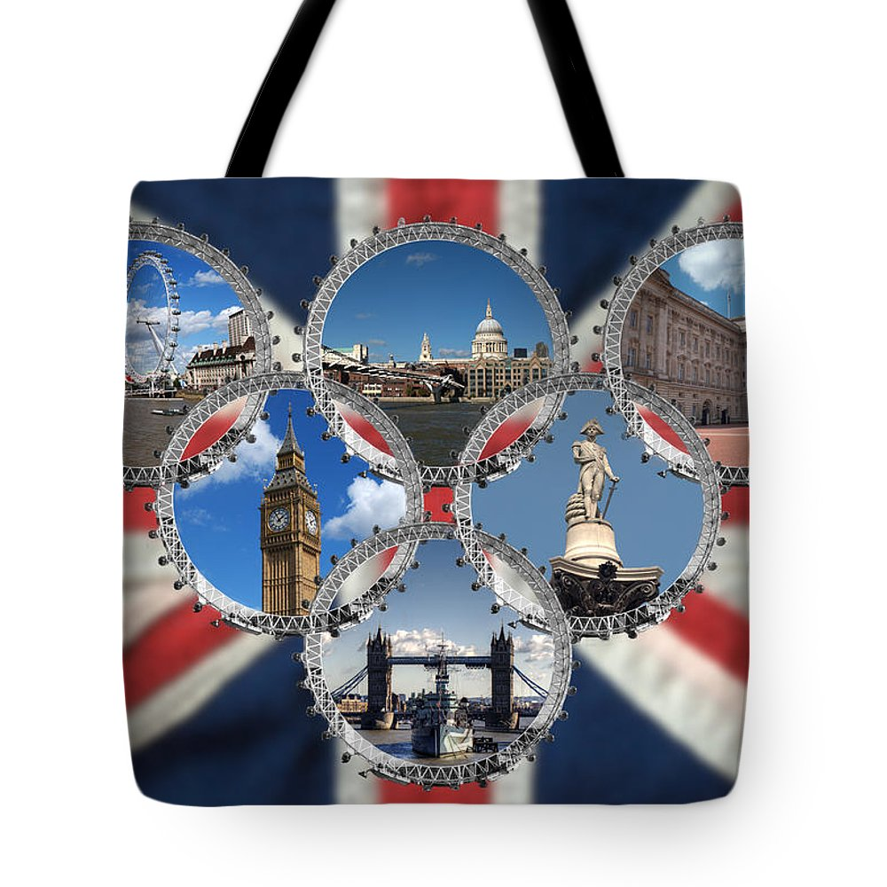 London Tote Bag featuring the photograph London Scenes by Chris Day