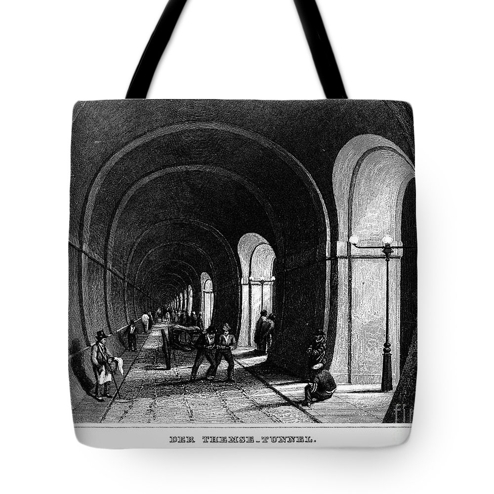 1840 Tote Bag featuring the photograph London: Thames Tunnel by Granger