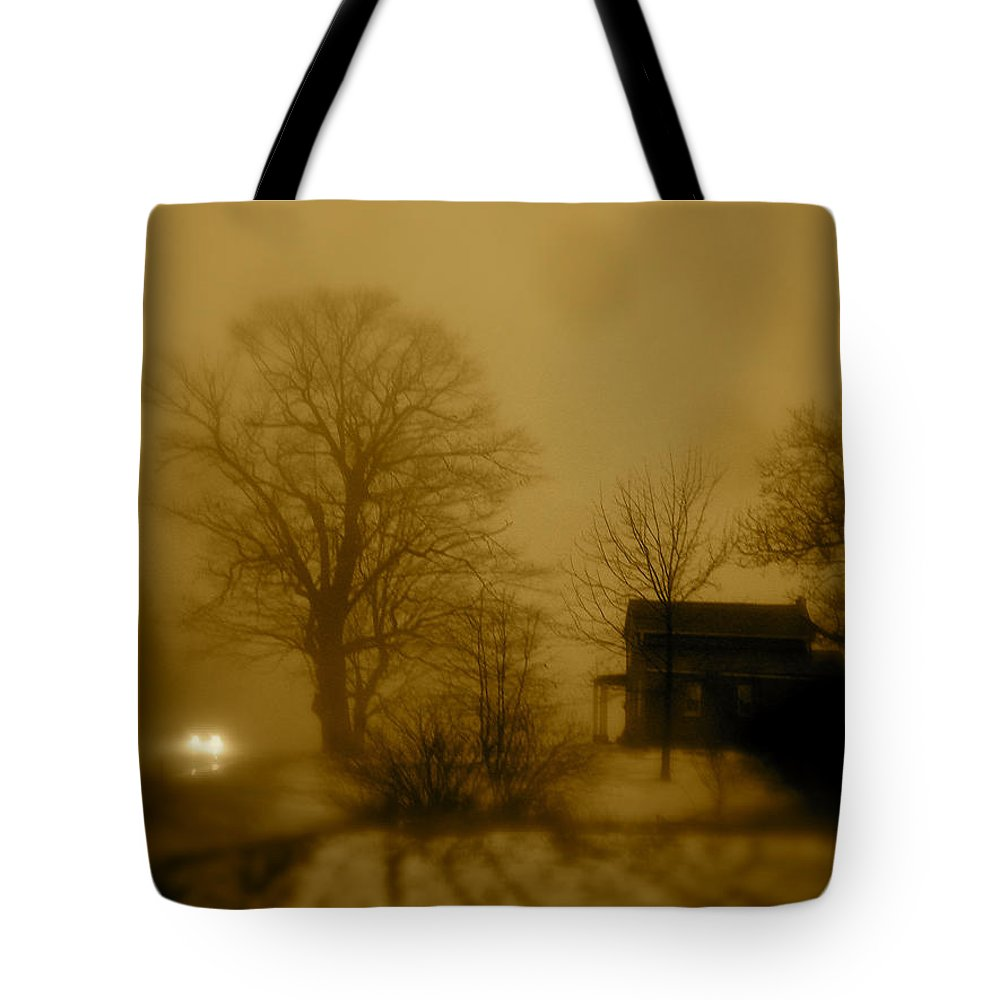Landscape Tote Bag featuring the photograph Lone Traveler by Arthur Barnes