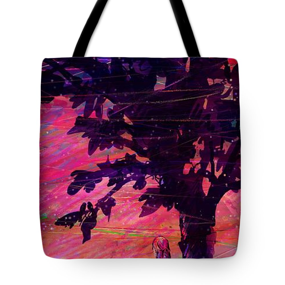 Landscape Tote Bag featuring the drawing Looking the landscapes by William Russell Nowicki