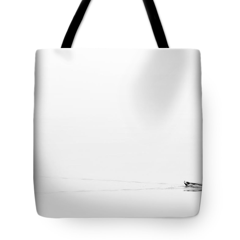Fog Tote Bag featuring the photograph Lost In The Fog by Cindy Tiefenbrunn