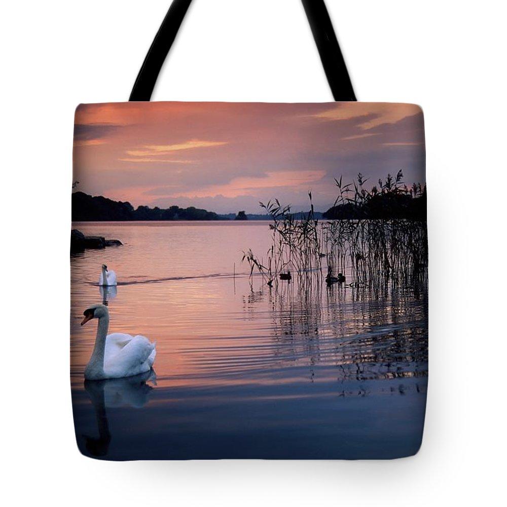 Dusk Tote Bag featuring the photograph Lough Leane, Killarney National Park by Richard Cummins