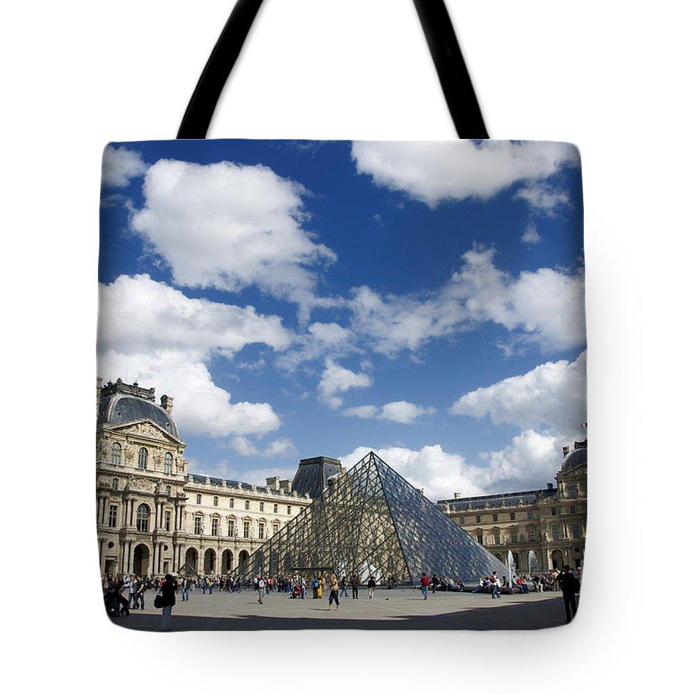Paris Tote Bag featuring the photograph Louvre Museum. Paris by Bernard Jaubert
