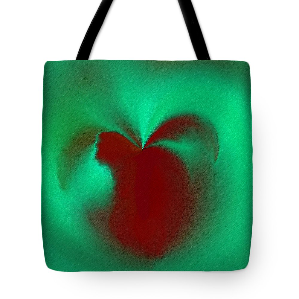 Modern Tote Bag featuring the digital art Love Effusion by ME Kozdron